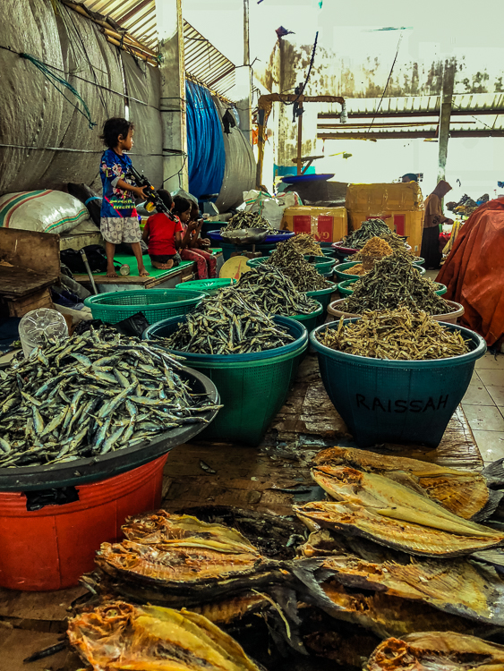 Fish Market in Town