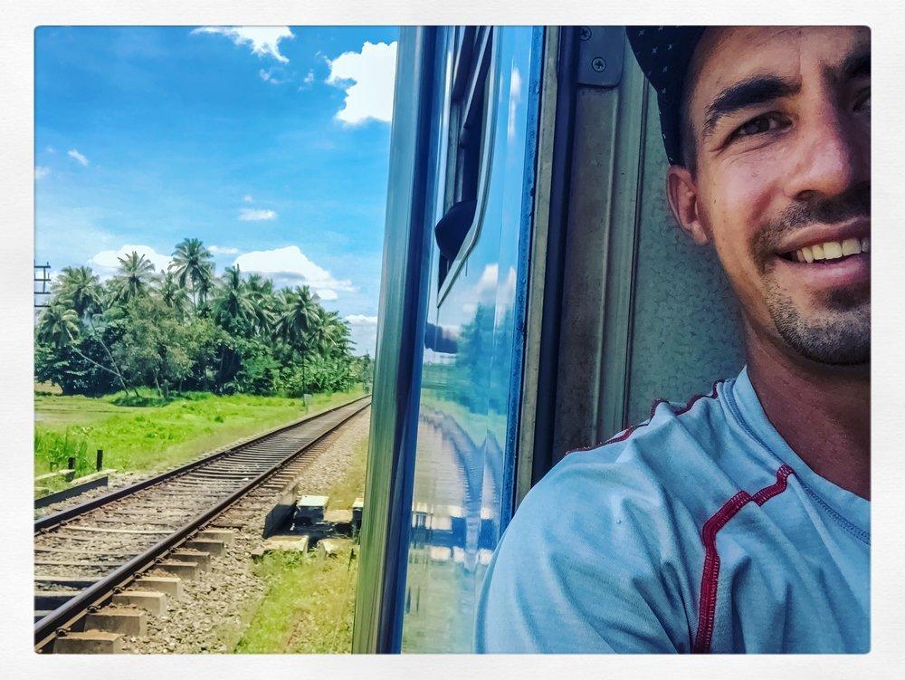 Train Ride Selfie
