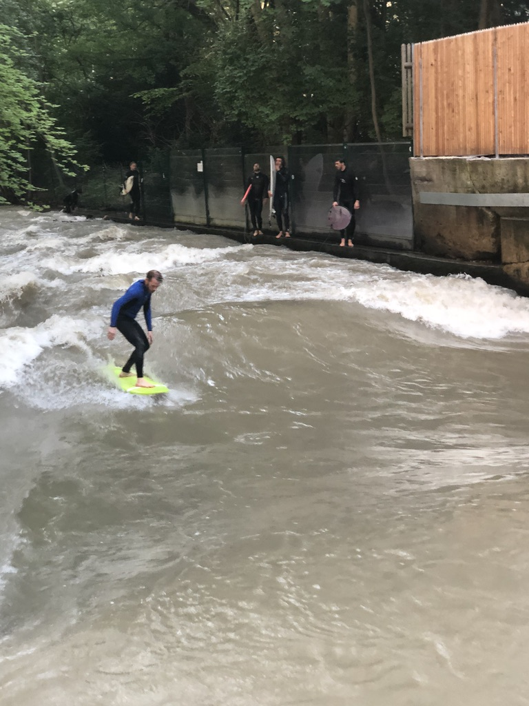 A river wave surfer