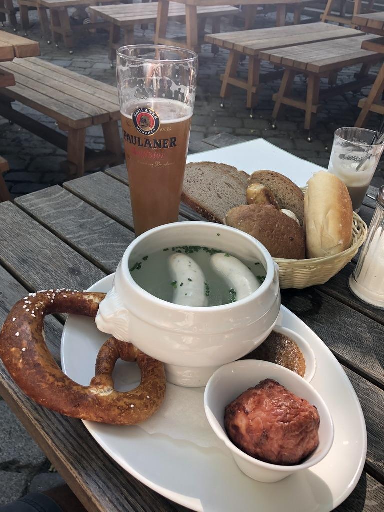 Weisswurst Traditional Bavarian Breakfast