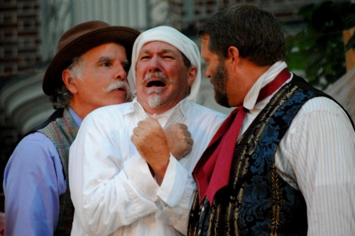David Regan, Geoffrey Sheehan and Michael Nowicki in  Twelfth Night , 2012.