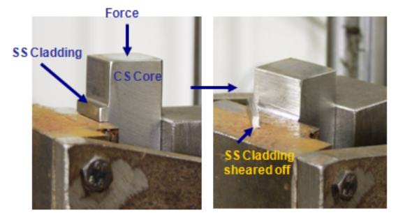 470MPa Bond Shear Strength = 98% of Solid SS Shear Strength of 481MPa when Tested According to ASTM 264-12 for Stainless-Clad Plate – A Perfect Bond