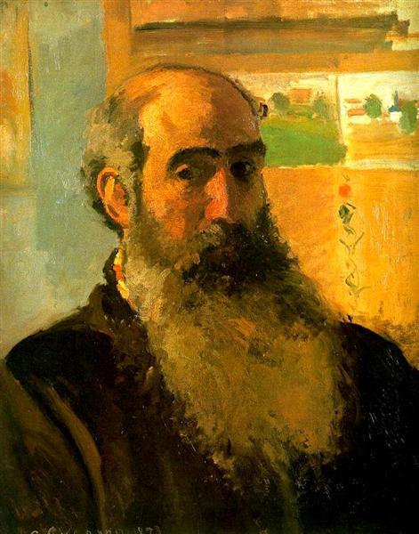 Camille Pissarro, Self Portrait, 1873,  Musee d'Orsay