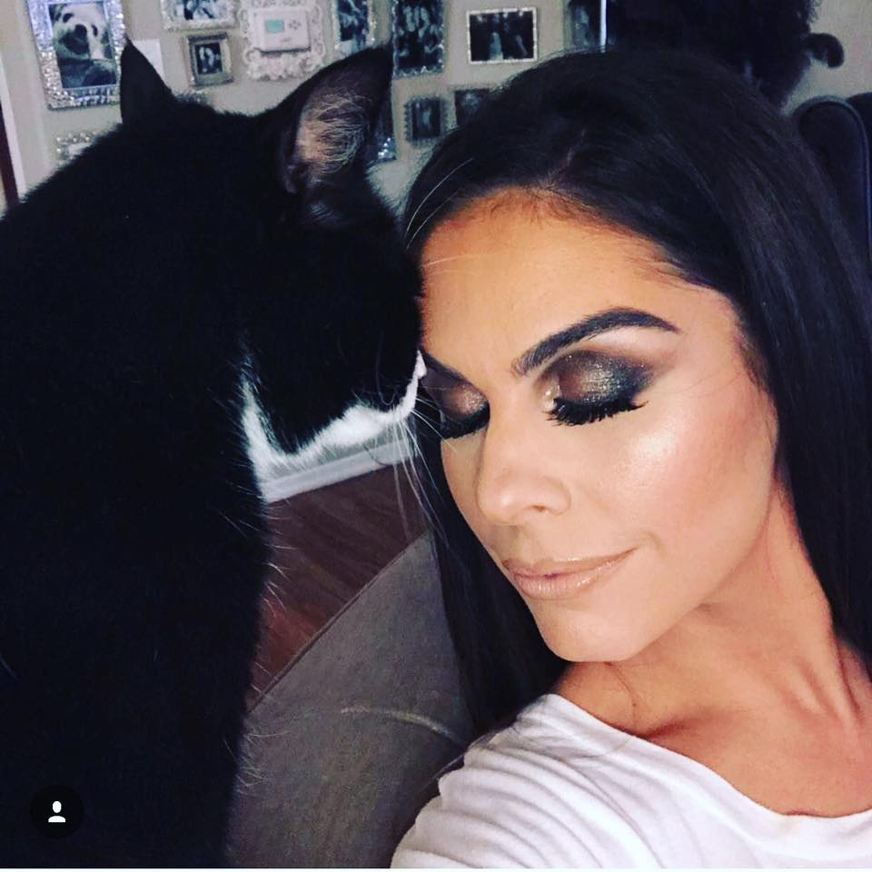 Annabelle DeSisto and her cat Tuxedo