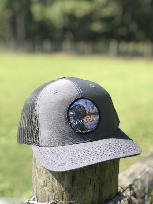 Black Lab Patch Grey Black Hat — King Calls f7f08270213