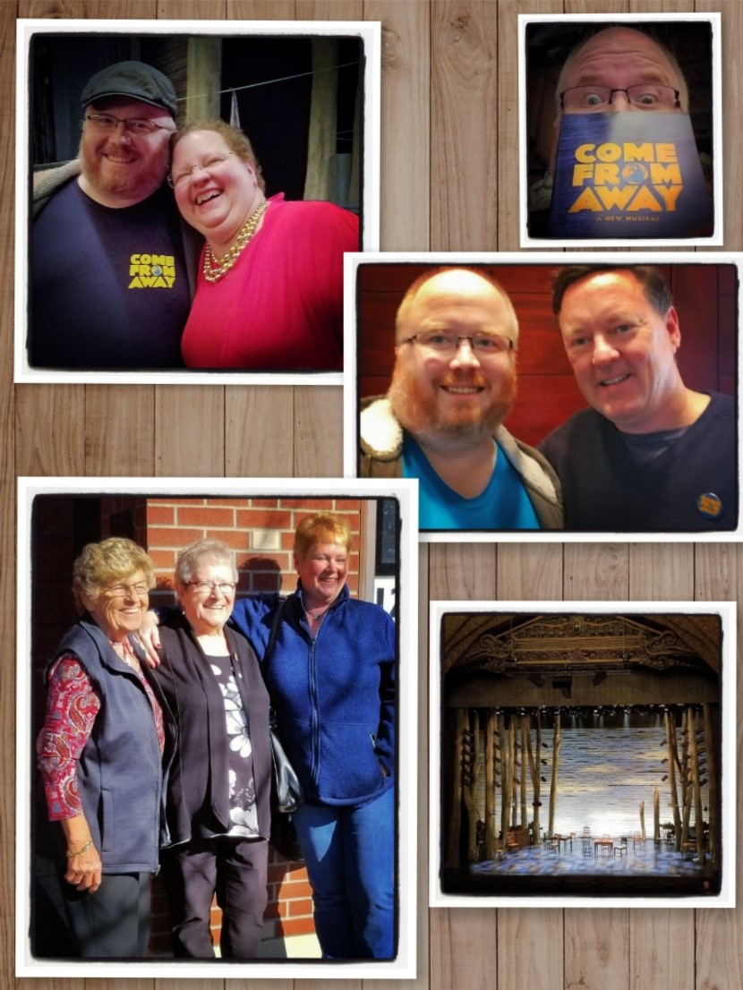 Top: With Diane Davis; Middle: with Kevin Tuerff; Bottom: Hannah, Beulah and Bonnie.