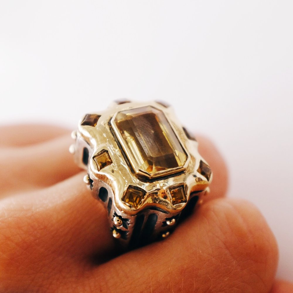Dian Malouf gold and citrine ring finger.jpg