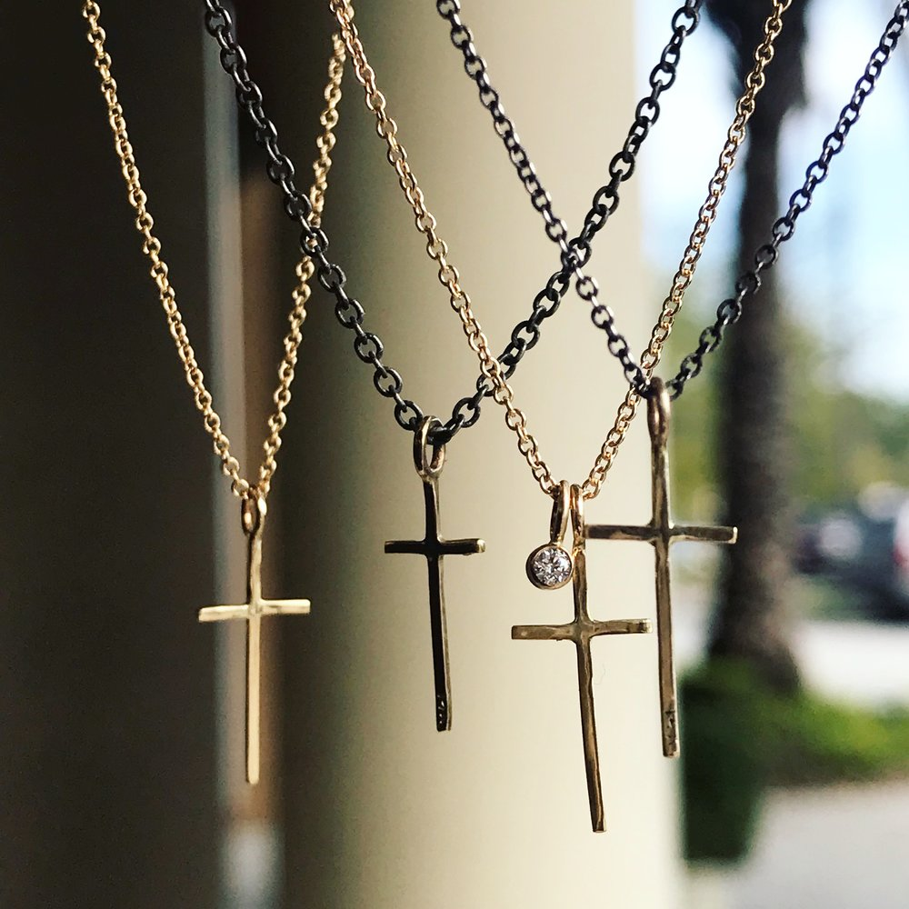 Shannon Johnson Cross Necklace-$180