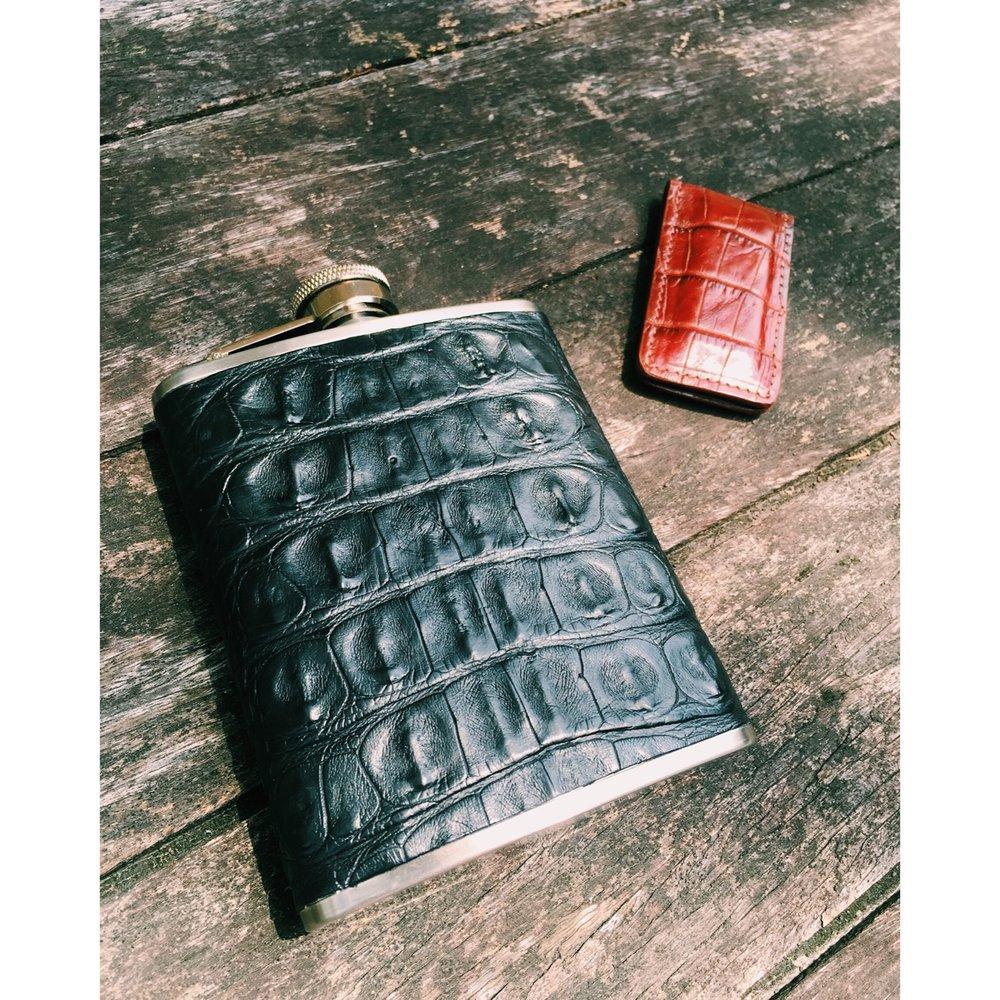 Cocodri Alligator Flask-$395