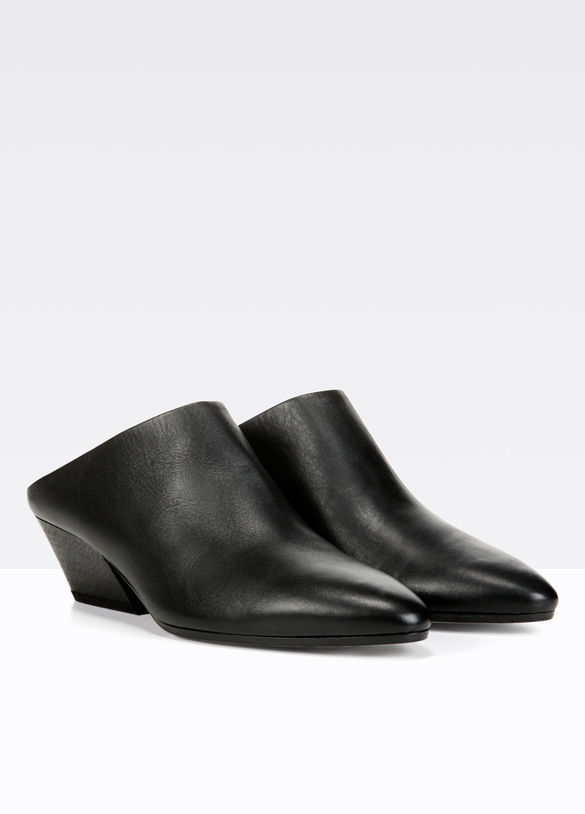 Vigo Leather Mule in Black - 25% off