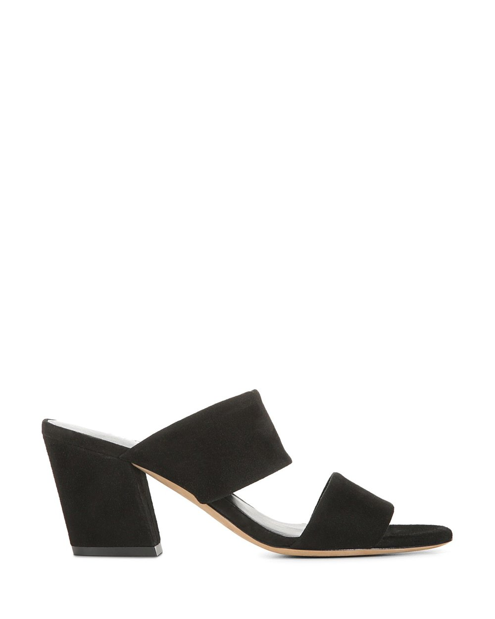 Benetta Suede Sandal in Black - 25% off