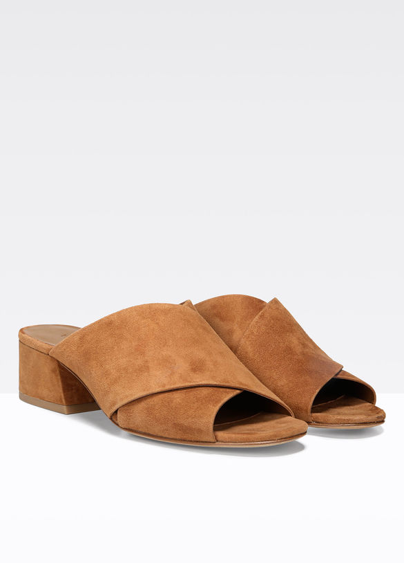 Karsen Suede Sandal in Cedar - 25% off