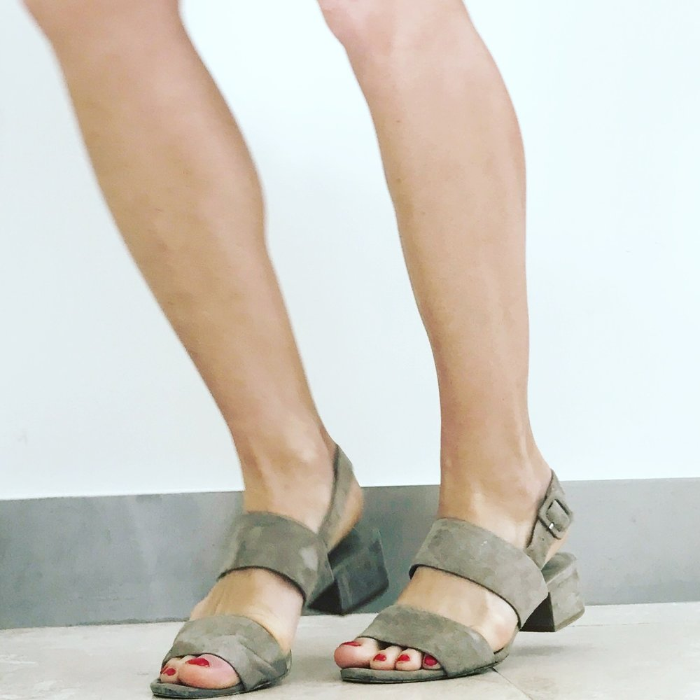 Taye Suede Sandal in Woodsmoke - 60% off