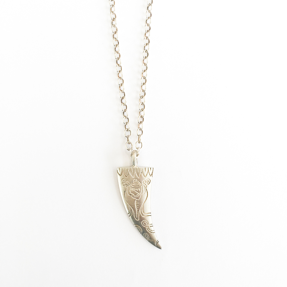 Sterling Conch Horn Necklace -$365