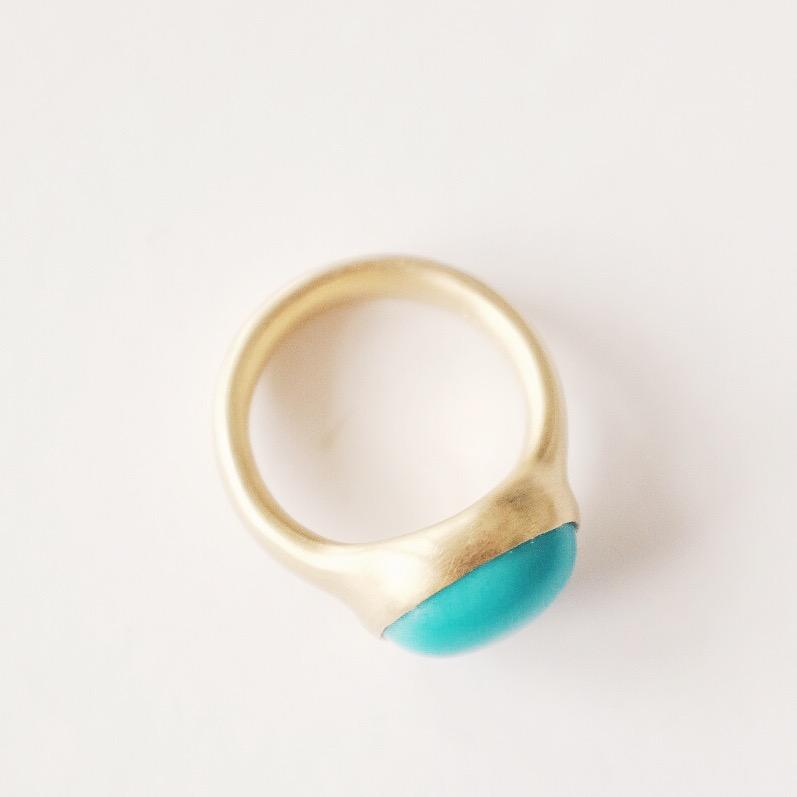 18k Turquoise Ring -$3,450