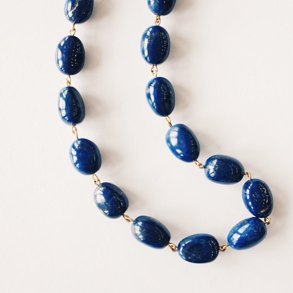 18k Lapis Baroque Chain -$5,950