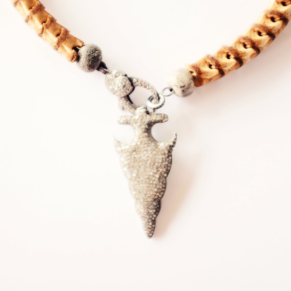 Pave Arrowhead Pendant-$1,425