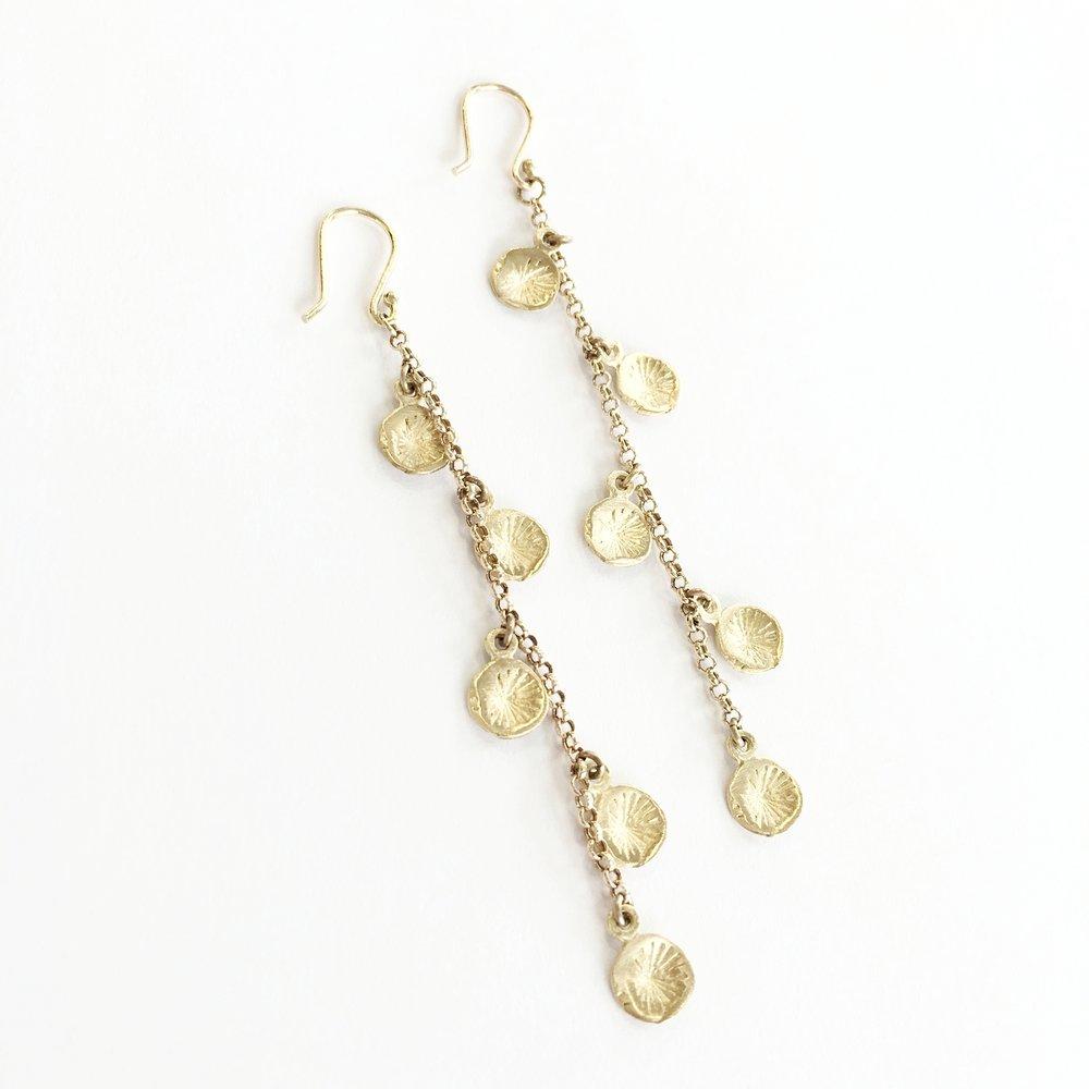 10k Astrid Amalia Chain Earrings -$375