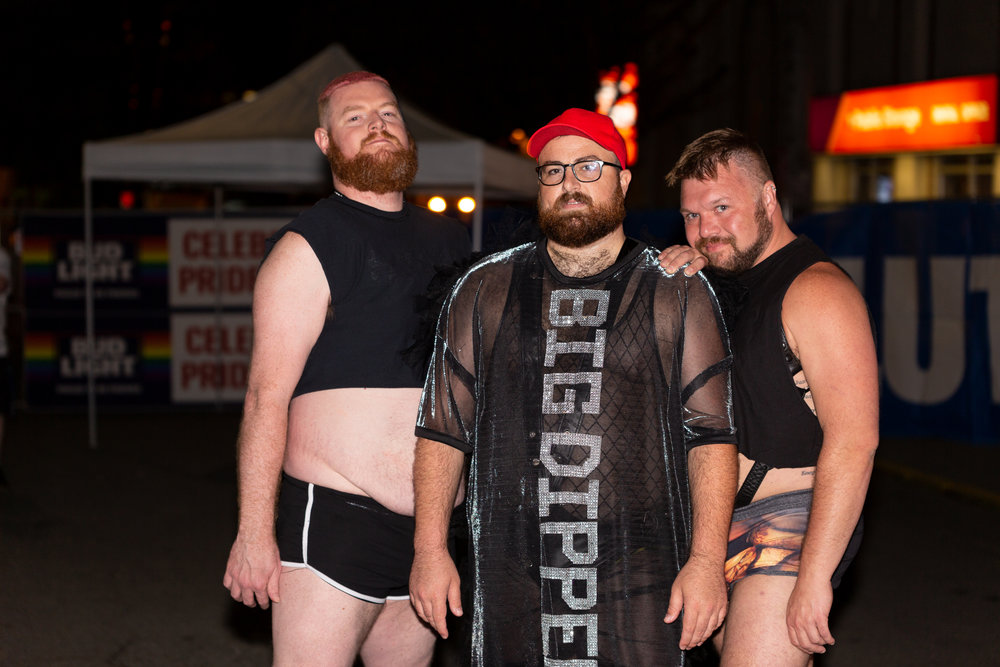 Big Dipper and his backup dancers, Jake McDermott and Aaron Ness