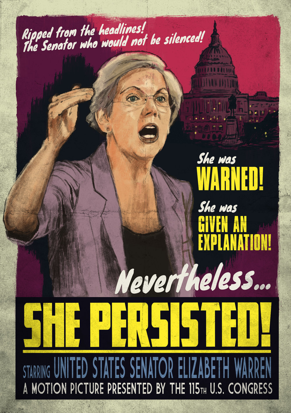 She Persisted Vintage Movie Poster