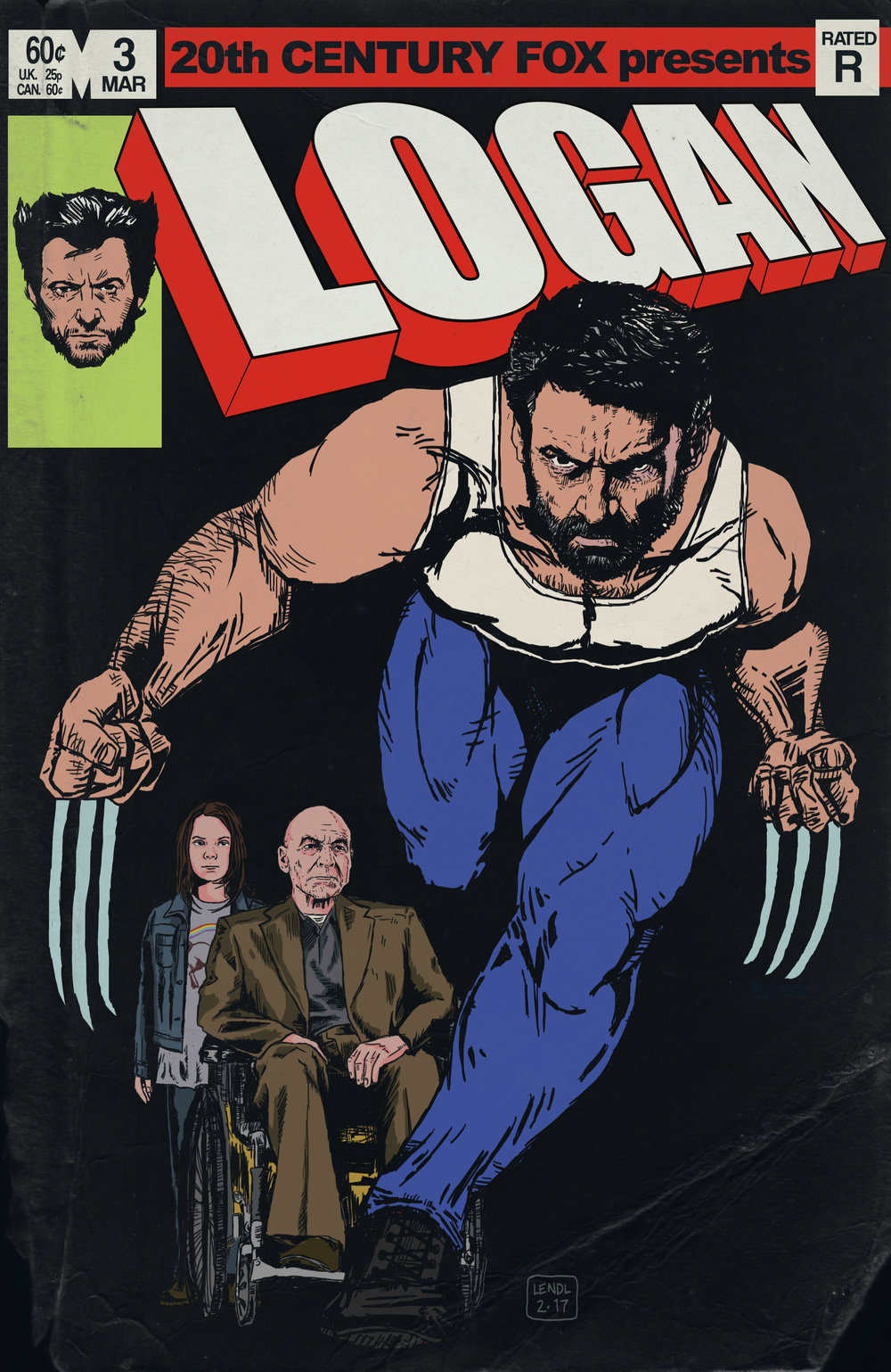 Logan Movie Vintage Comic Cover