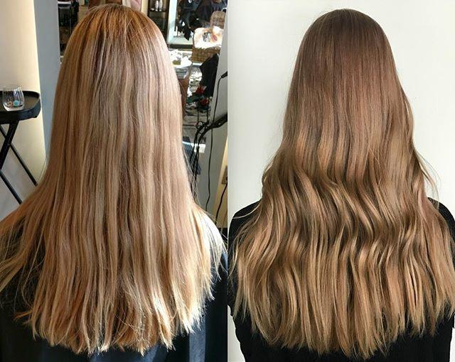 We always love before and after pictures! #cocoonsalonandspa #davidson #salon #spa #hair #makeup #skincare #style #keune #moroccanoil #reuzel #colorproof