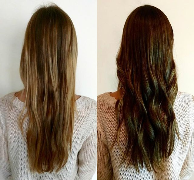 It's the time of year for darker hair! Done by @heathervannoy  #cocoonsalonandspa #davidson #salon #spa #hair #makeup #skincare #style #keune #moroccanoil #reuzel #colorproof