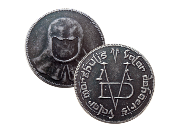 FREE:Coin of the Faceless Man - Beautiful iron coin from our friends at Shire Post Mint.This is not a coin for buying things...