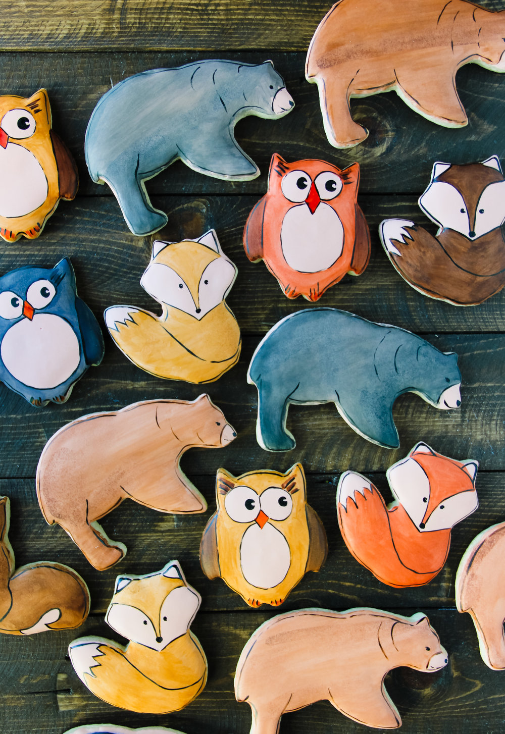 Forest Friend Hand Painted Cookies