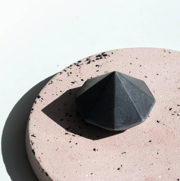 Concrete coaster and diamond from Concrete Forest