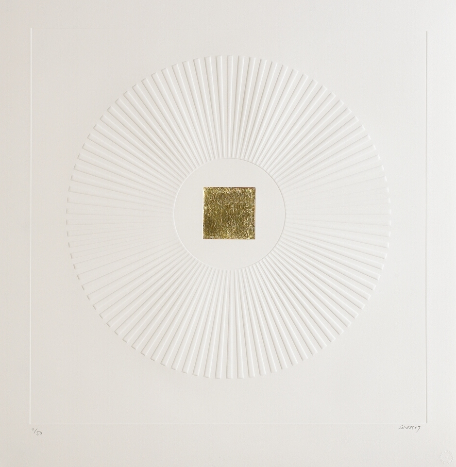 2. Patrick Scott, Untitled from 'Meditations', 2007, carborundum embossed with gold leaf, edition of 50, 60 x 60 cm, €4,400.jpg