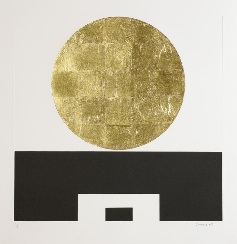 3. Patrick Scott, Untitled from 'Meditations', 2007, carborundum with gold leaf, edition of 50, 60 x 60 cm, €4,400.jpg