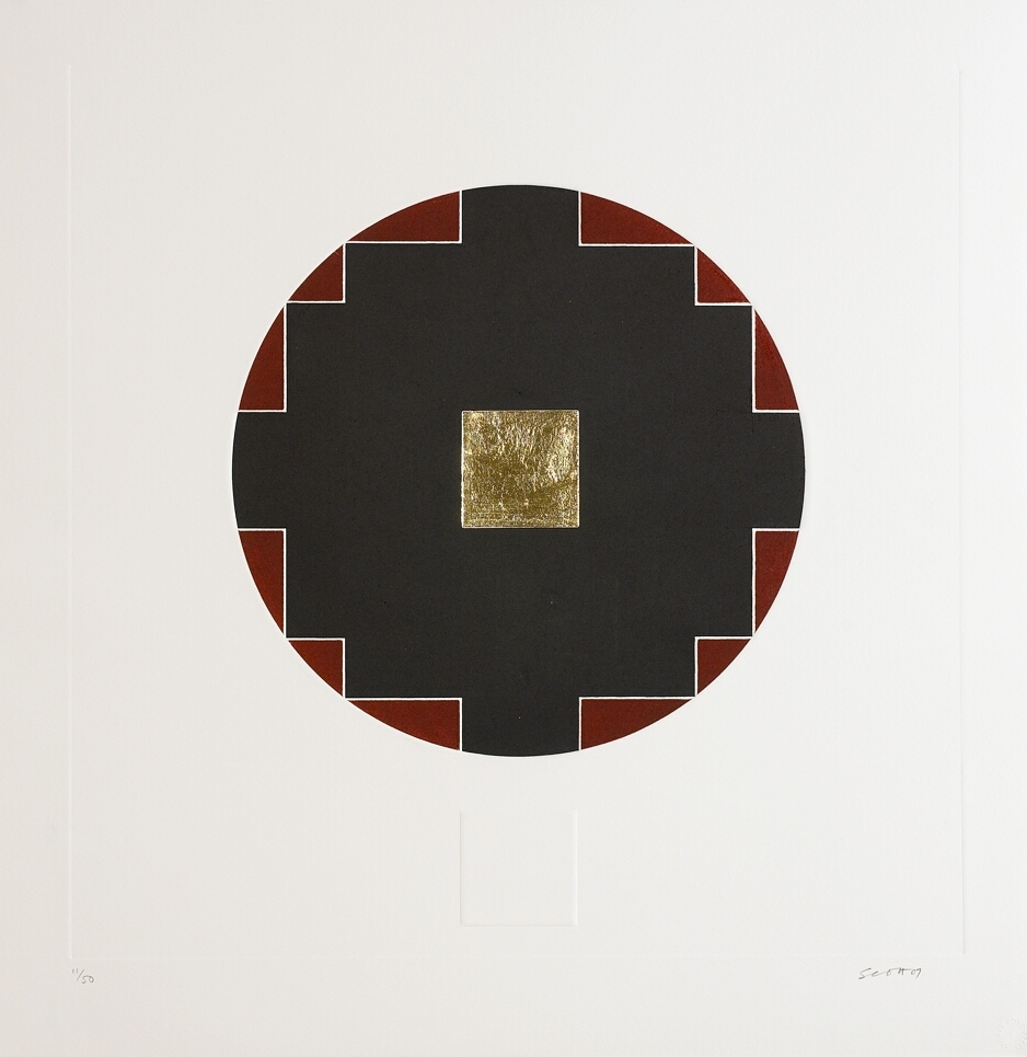 4. Patrick Scott, Untitled from 'Meditations', 2007, carborundum embossed with gold leaf, edition of 50, 60 x 60 cm, €4,400.jpg
