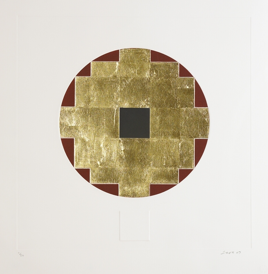 5. Patrick Scott, Untitled from 'Meditations', 2007, carborundum embossed with gold leaf, edition of 50, 60 x 60 cm, €4,400.jpg