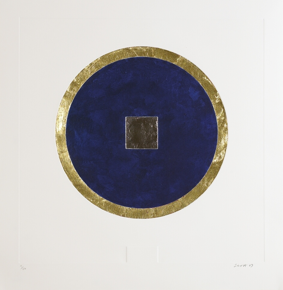 6. Patrick Scott, Untitled from 'Meditations', 2007, carborundum embossed with gold and palladium leaf, edition of 50, 60 x 60 cm, €4,400.jpg