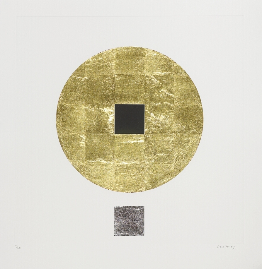7. Untitled from 'Meditations', 2007, carborundum embossed with gold and palladium leaf, edition of 50, 60 x 60 cm, €4,400.jpg