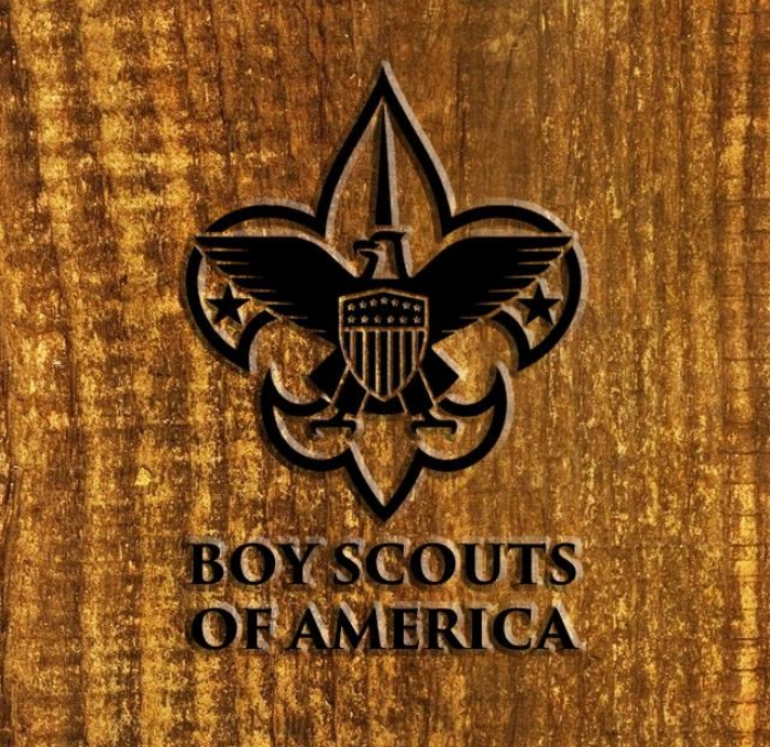 A Boy Scout sash with merit badges and First Class and Star Scout ...