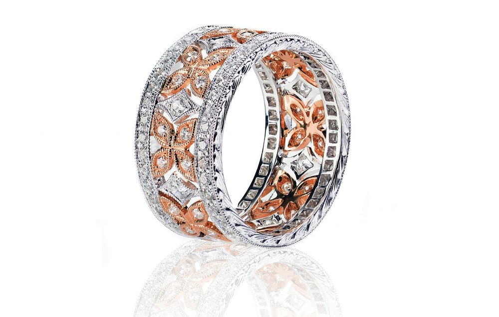 Diamond-Antique-Rose Gold-Ring