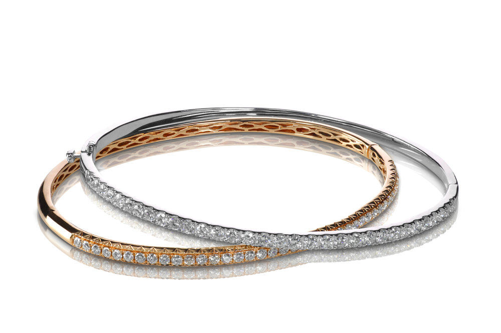 Diamond stackable Bangles and bracelets