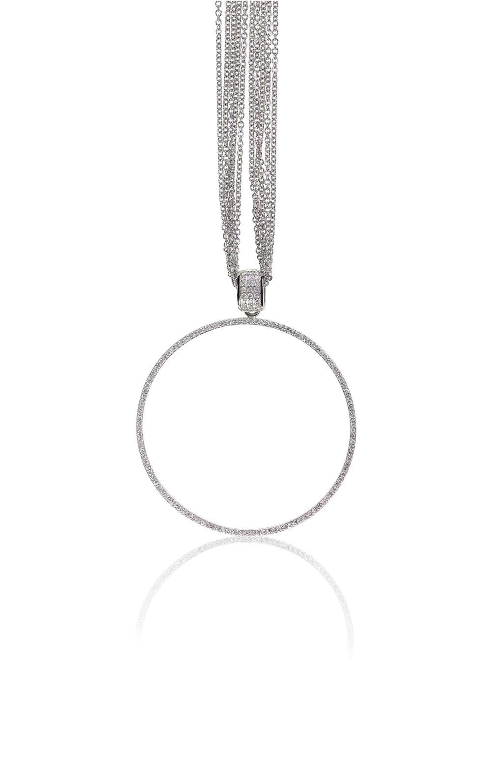 cicle diamond pendant