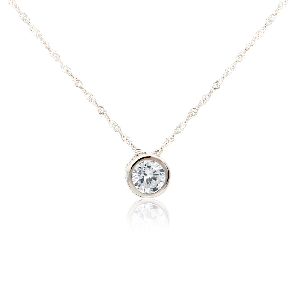 Diamond Solitare Pendant