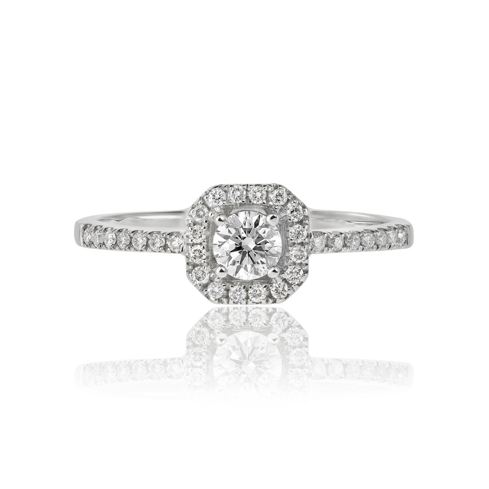 Engagement Ring Diamond Halo