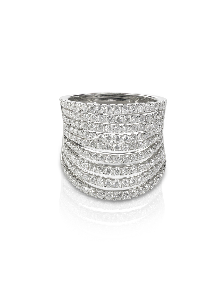 Designer Multi Row Diamond Band