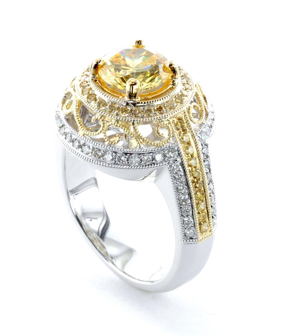 Yellow Sapphire Diamond Rin