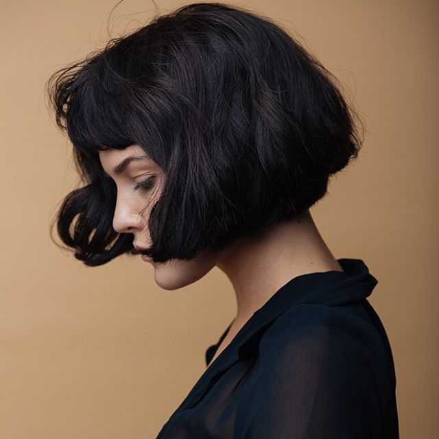 AMELIE-INSPIRED BOB - Wavy and curly, this bob is best when texturised, like the Texturised Bob, this look needs product to get the best result. It's a super sexy silhouette, really showing off the neck, which is created by graduating the hair at the back of the head.