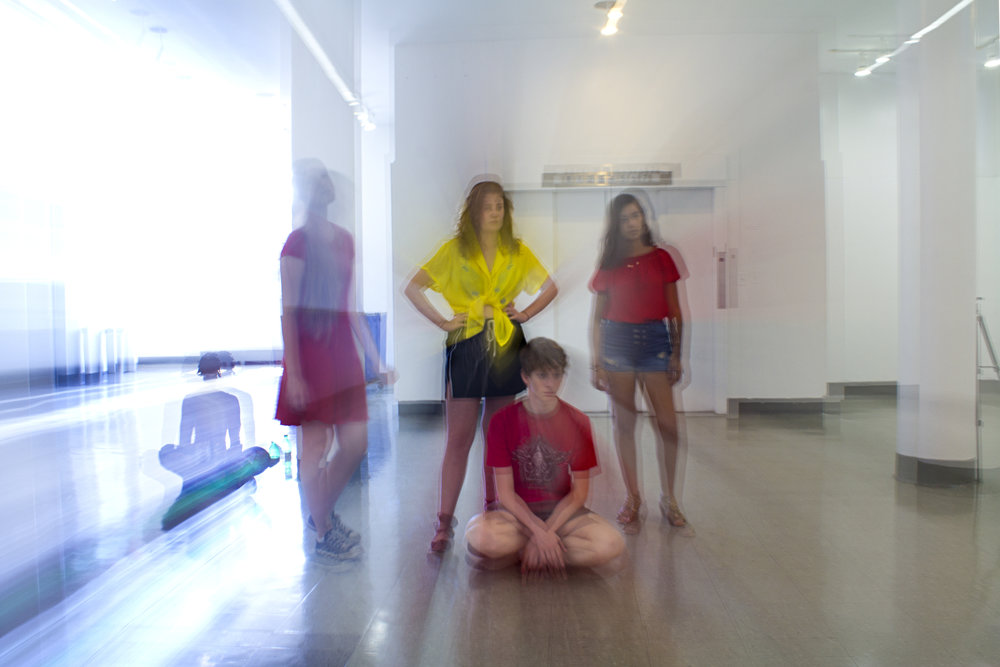 Cooper Union Summer Intensive, practicing the effects of color, light and motion. Image by Sade Rodriquez