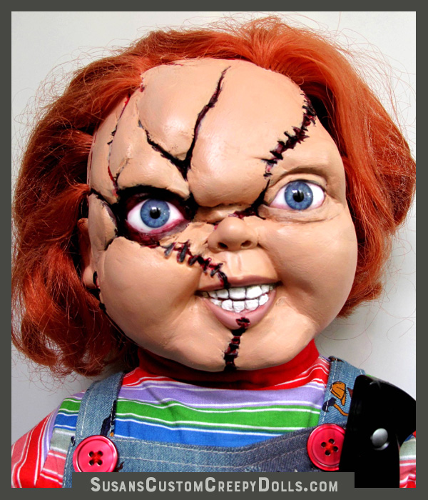 "Sculpted and improved Chucky 25""tall.   $500 plus shipping."