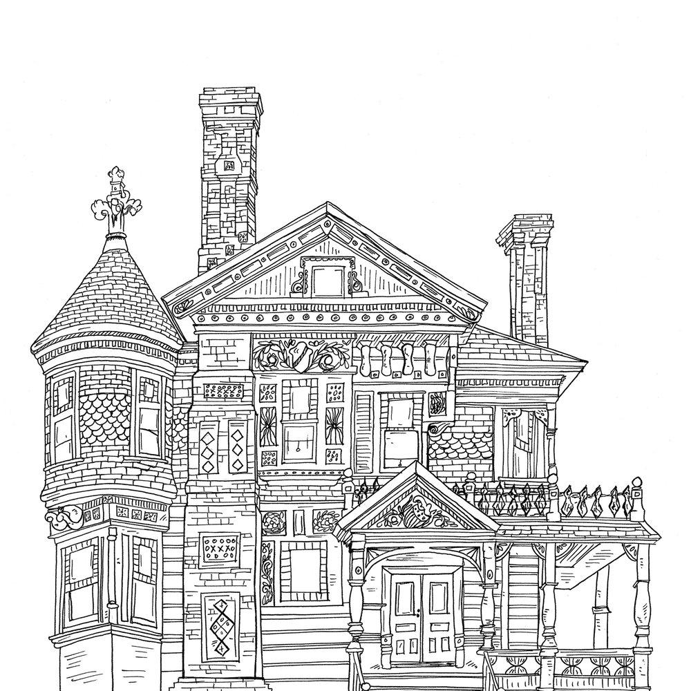 Hale House, Linework