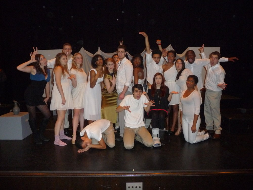 Cast of Kemi's college production of Aida the musical