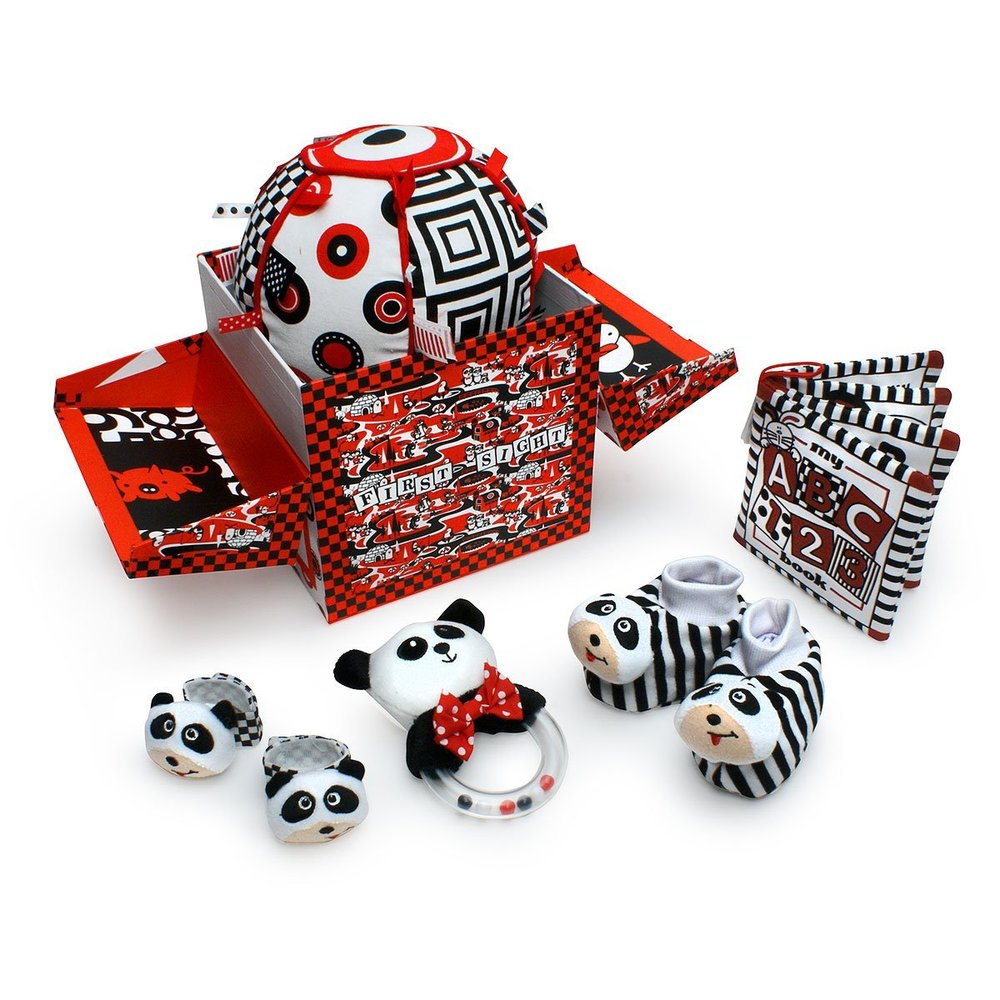 Very young infants need high contrast toys. Black, White and Red toys are a perfect Montessori Solution for infants.